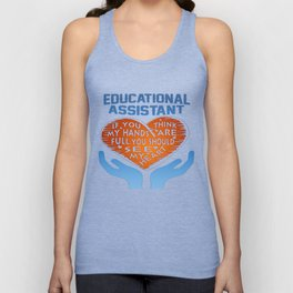 Educational Assistant Unisex Tank Top