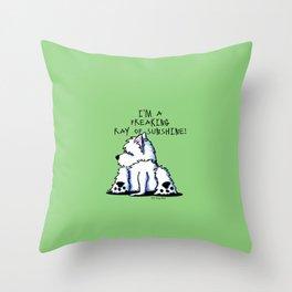 KiniArt Ray Of SunShine Throw Pillow