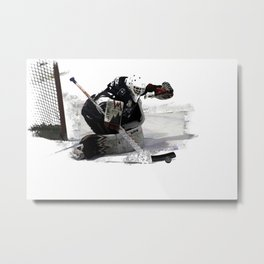 No Goal! - Hockey Goalie Metal Print