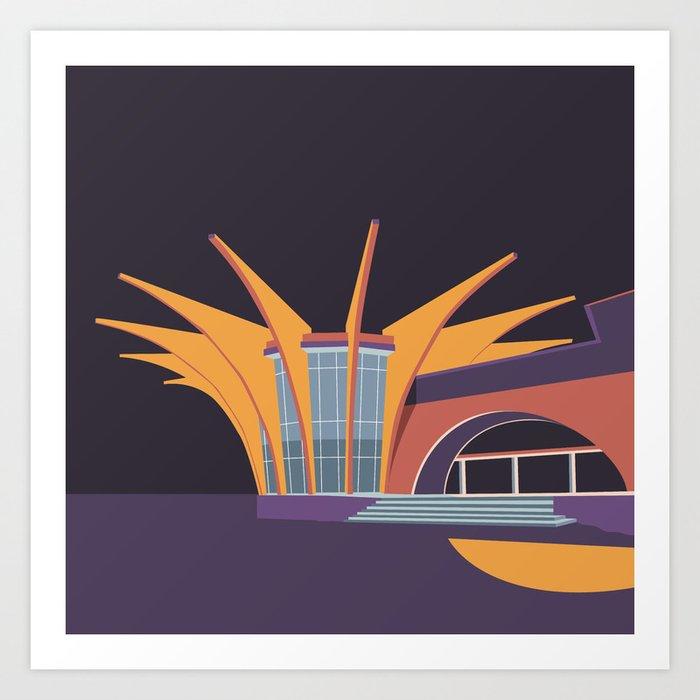 Soviet Modernism: Central bus station in Hrazdan, Armenia Art Print