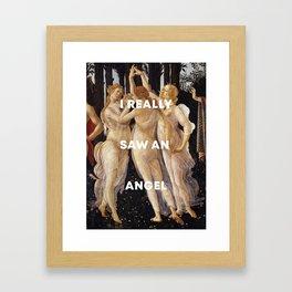 Harry Styles + Botticelli Framed Art Print