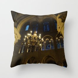 Cathedrale Notre-Dame de Paris Throw Pillow