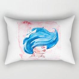 Watercolor Aquarius Girl Rectangular Pillow