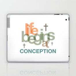Life Begins At Conception Laptop & iPad Skin