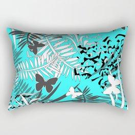 Turquoise tropical Rectangular Pillow
