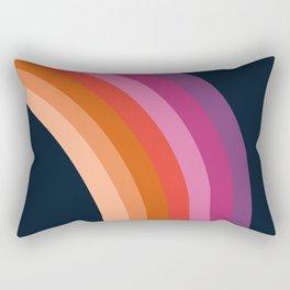Tubular - retro throwback 70s style rainbow colorful trendy 1970's art decor Rectangular Pillow