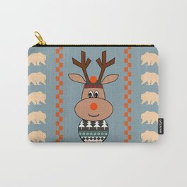 Reindeer and bears- winter decor Carry-All Pouch