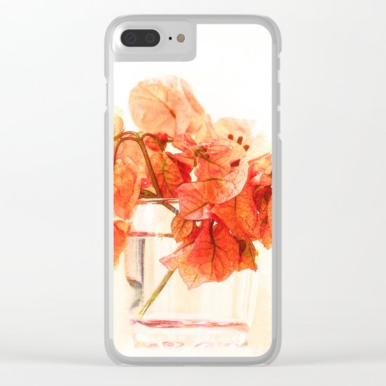 Sunny Bougainville(5). Clear iPhone Case