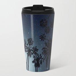 Palm Trees, Night Sky, Stars, Moon Travel Mug