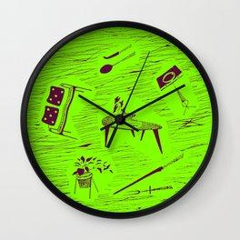 Homemaker Classic Mid Century Modern Plate Design Poster Wall Clock