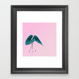 Pink Plant Framed Art Print
