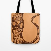 squid Tote Bags featuring Squid  by Jack Yuen