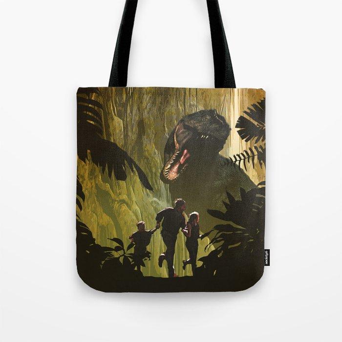 Dinosaur Poster Tote Bag