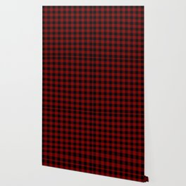 Maroon  Bison Plaid Wallpaper