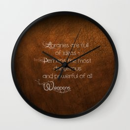 Libraries Hold Power Wall Clock