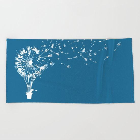 Going where the wind blows Beach Towel