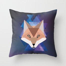 Galaxy Fox Throw Pillow