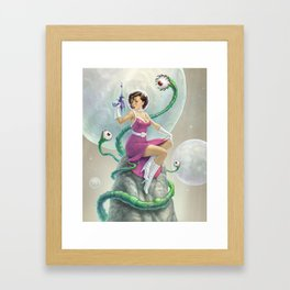 Astro Babe Framed Art Print