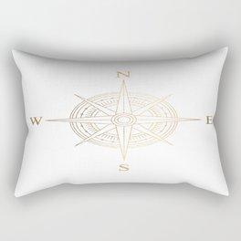 Gold Compass Rectangular Pillow