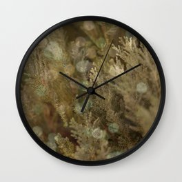 Pine and bokeh II Wall Clock