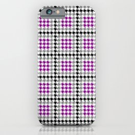 Josey Houndstooth Plaid iPhone Case