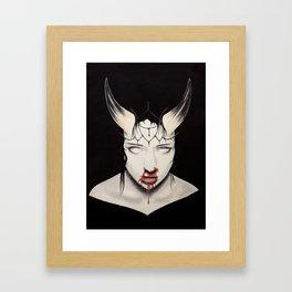 Kicking Crosses Down Framed Art Print