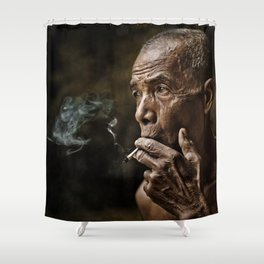 Old man 20 Shower Curtain