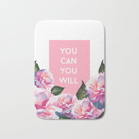 You Can & You Will Bath Mat