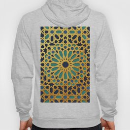 -A1_2- Golden Original Traditional Moroccan Artwork. Hoody