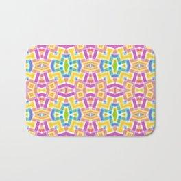 Modern Trendy Kaleidoscope Mosaic Pattern Bath Mat