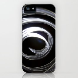 Large spiral light abstract iPhone Case