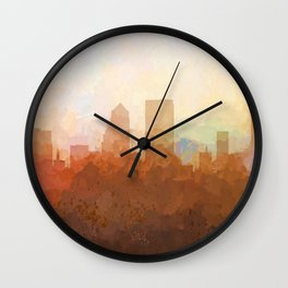 Jacksonville, Florida Skyline - In the Clouds Wall Clock