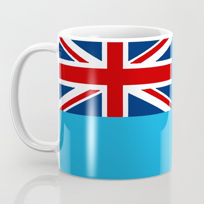 Fiji Map with Fijian iTaukei Flag Coffee Mug