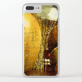 Golden Large Fountain Urns Clear iPhone Case