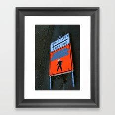 Monster Crossing Framed Art Print
