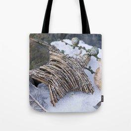 Nature Christmas Star Decoration Tote Bag