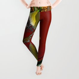 """The Swooping"" Abstract Leggings"