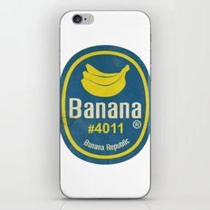 Banana Sticker On White iPhone & iPod Skin