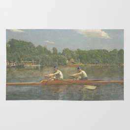 The Biglin Brothers Racing by Thomas Eakins Rug