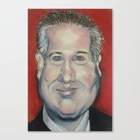 cassia beck Canvas Prints featuring Taliban Republican: Glenn Beck by Randy Burman