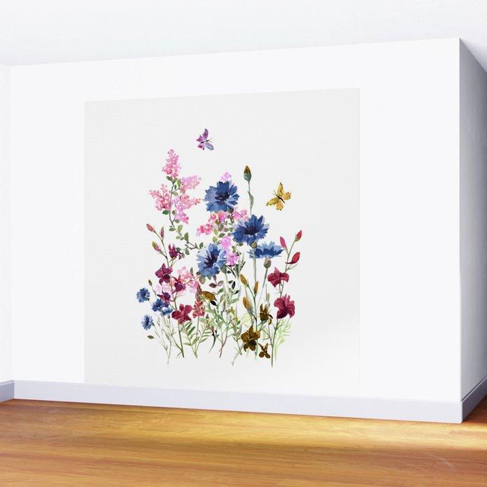 Wildflowers IV Wall Mural