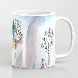 Christmas Winter Scenery Painting Coffee Mug