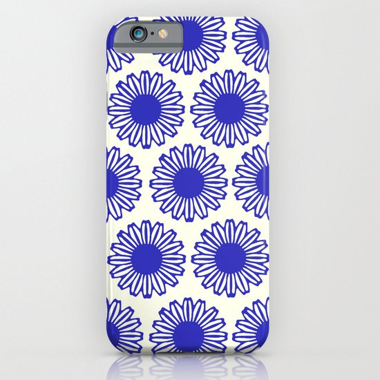 vintage flowers blue  iPhone & iPod Case