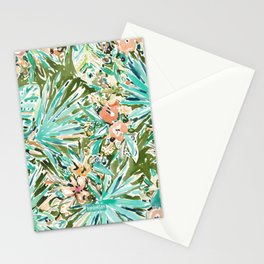 FAN OUT Tropical Palmetto Floral Stationery Cards
