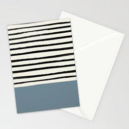 Dusty Blue x Stripes Stationery Cards