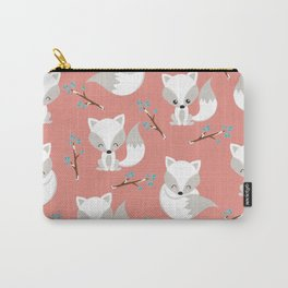 ARCTIC FOXES ON CORAL Carry-All Pouch