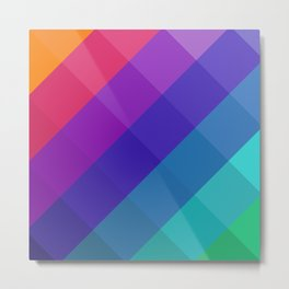 Cubical Colors Metal Print