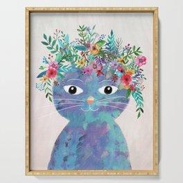 Flower cat II Serving Tray