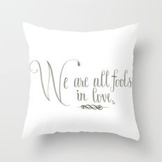 Fools In Love Throw Pillow
