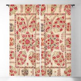 Bokhara Suzani Uzbekistan Floral Embroidery Print Blackout Curtain